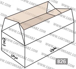 B26-carton-box-design – کارتن سبز تولید کننده انواع کارتن جعبه ورق کارتن سینگل فیس