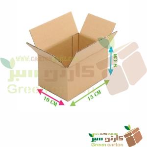 کارتن پستی ۳ لایه قهوه ای سایز نیم - Green Cardboard Box Packaging
