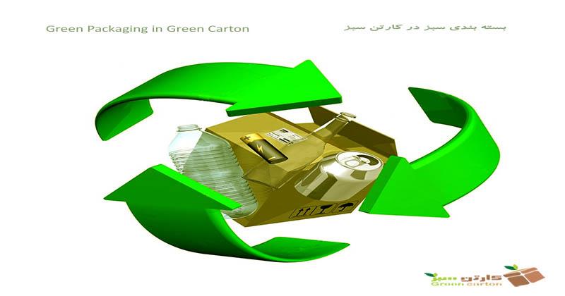 بسته بندی سبز در کارتن سبز