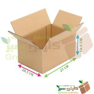 کارتن بسته بندی مدل B01 - جعبه مقوایی کارتن سبز